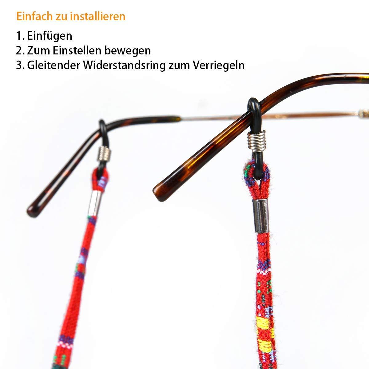 Brillenkordel Brillenschnur 8 St/ück Brillenband Multicolor geflochtenes Seil f/ür Sonnenbrille und Lesebrille Brillen Schnur Lanyard Brillenb/ändel Brillenkette