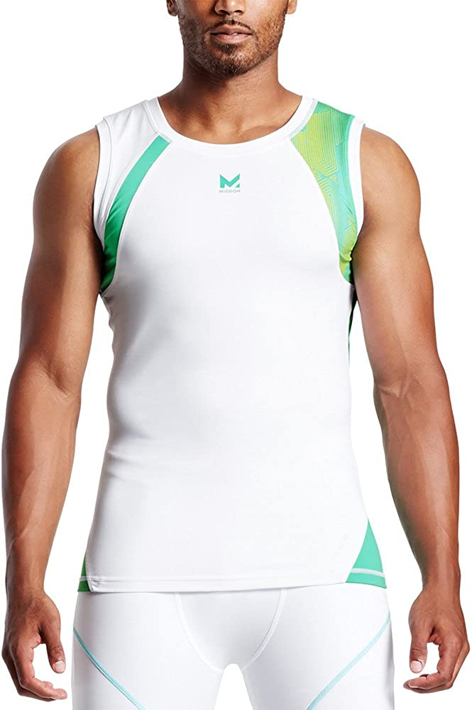 MISSION Mens Sleeveless Compression Shirt