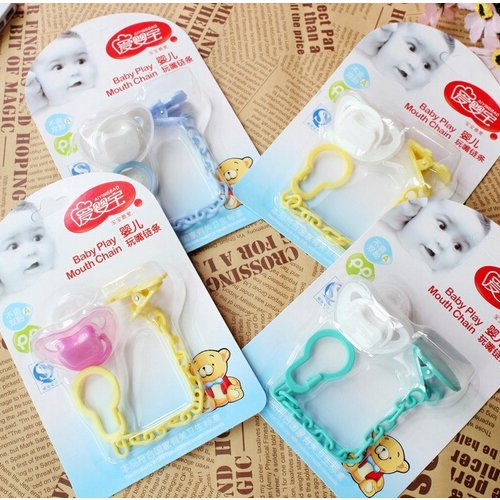 Baby Pacifier Nipple Chain Cartoon Anti-out Clip Holder for Children