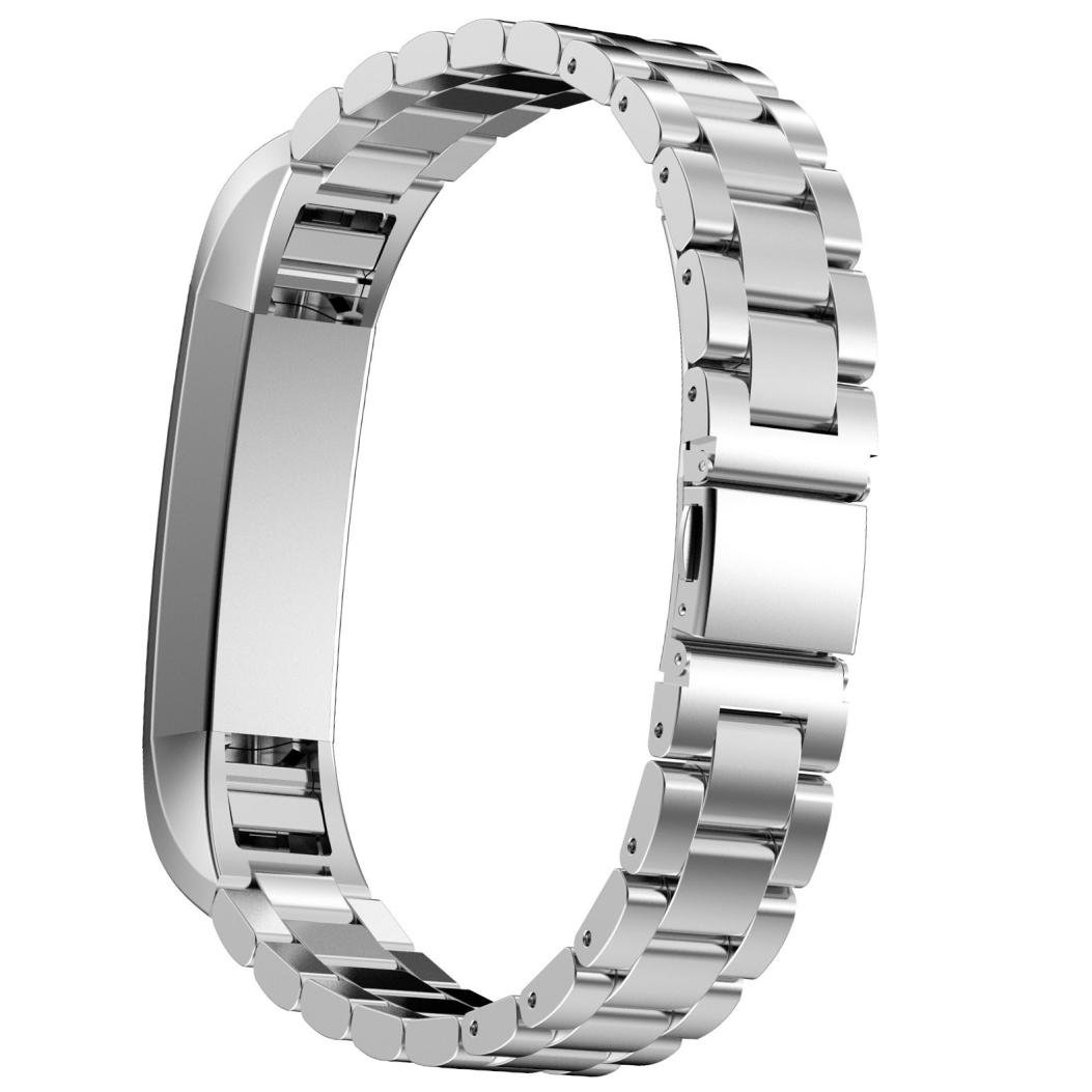 D.B.MOOD Band for Fitbit Alta Smart Watch,Stainless Steel,7 Color,8.26 Inches Silver
