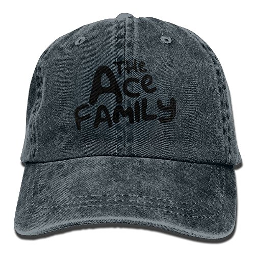 Mike Tanner ACE Family Logo Unisex Washed Baseball Cap Adjustable Cowboy Cotton Ball Hat Navy