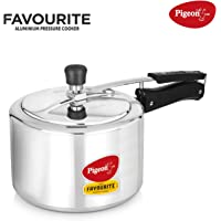Pigeon by Stovekraft Favourite Alluminum Pressure Cooker with Inner Lid, 3 litres, Silver