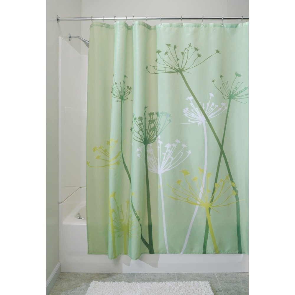 interdesign thistle fabric shower curtain 72 x 72 inch green ebay. Black Bedroom Furniture Sets. Home Design Ideas