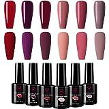 Makartt Red Gel Nail Polish Kit 10 ML 6 Bottles Perfect Goddess temperament Colors UV LED Lamp Required Soak Off UV gel…