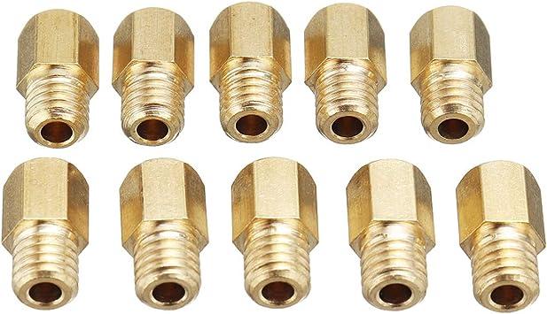 PeroFors 10Pcs Hex Style Vergaser Hauptd/üsen Set F/ür Mikuni Vm Tm TMX Vergaser 200-290
