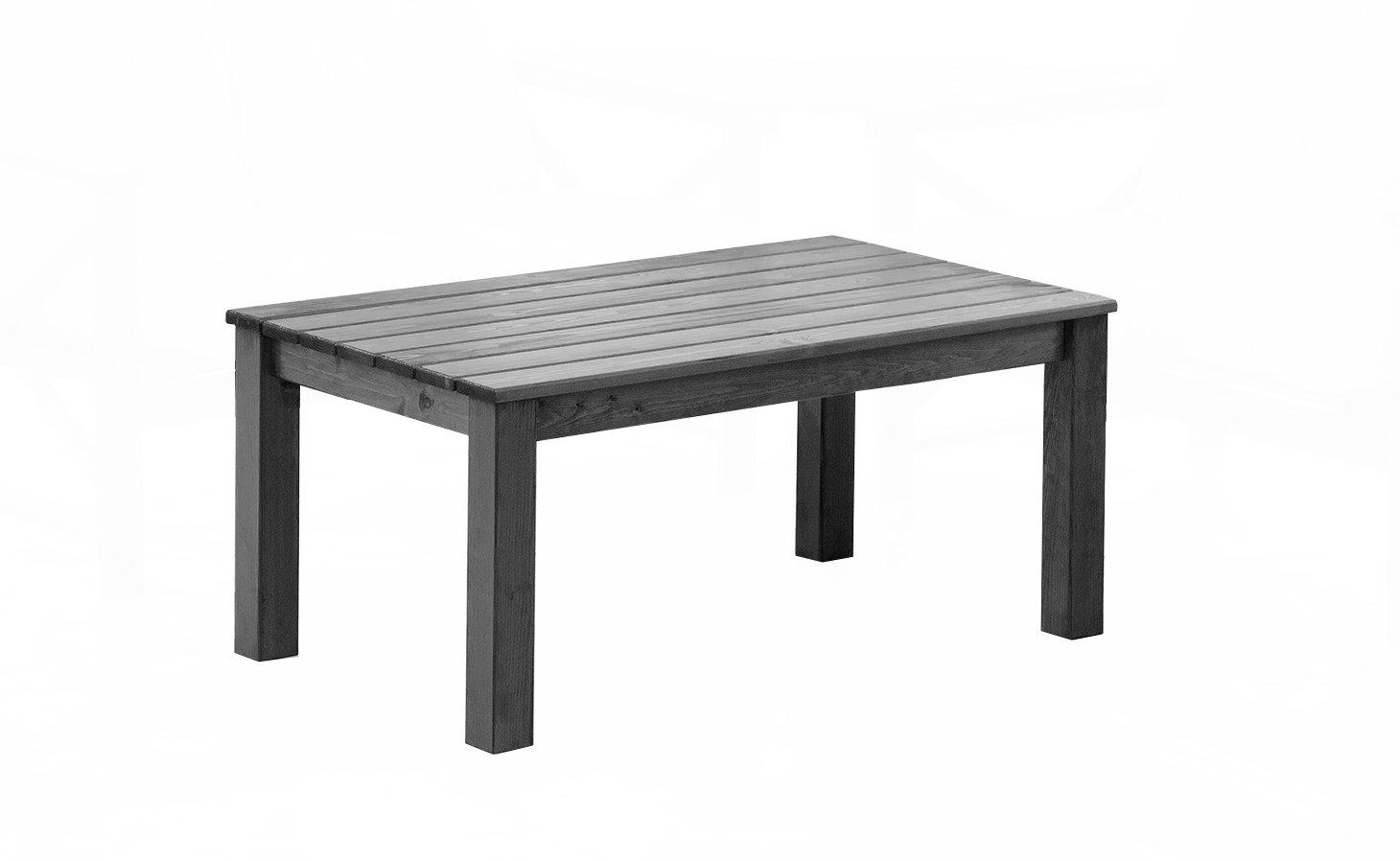 GARDENho.me Massivholz Tisch OSLO Taupegrau ca. 110x50 cm Couchtisch