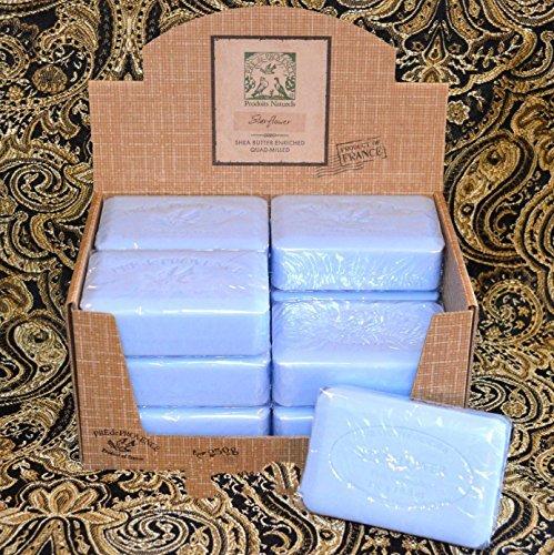 Case of 12 Pre de Provence Starflower Scent 250 gram shea butter extra large soap bars