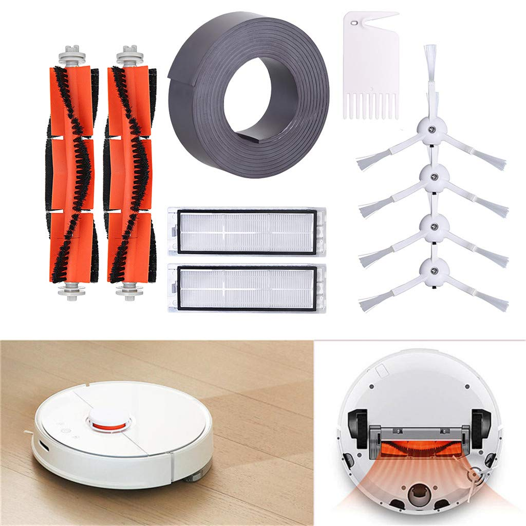 Mollikar Filter Side Brush,Vacuum Cleaner Replacement Parts Suitable for XIAOMI Robot Vacuum Main Brush from Daughter