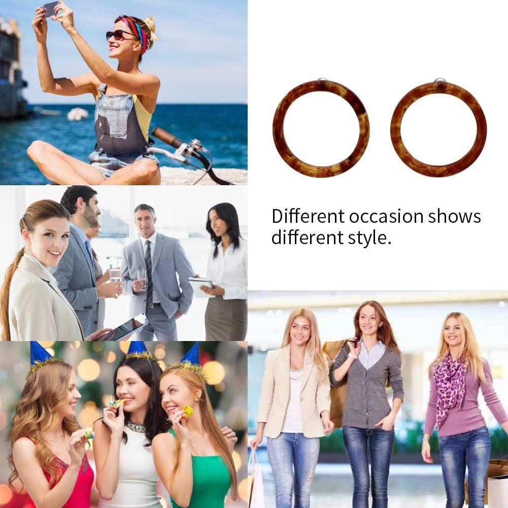 SURPRISE PIE Acrylic Statement Tortoise Shell Earrings Women Fashion Hoop Resin Stud Earrings Gifts Women