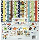 """Echo Park Paper LM99014 Little Man Cardstock Stickers, 12"""" x 12"""", Element, Multicolor"""