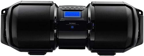 Sharp GXBT9 Portable Bluetooth Boom Box Black , 10.80 x 29.50 x 11.00