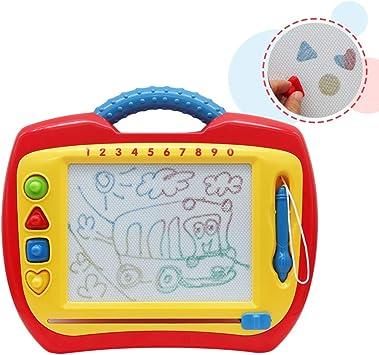 Cancellabile Magna Doodle Tavoletta da Disegno Cancellabile Lavagnetta Magnetica Magica Giocattolo Educativo e Colorato Verde Regalo Perfetto di Natale per Bambini 3 Anni