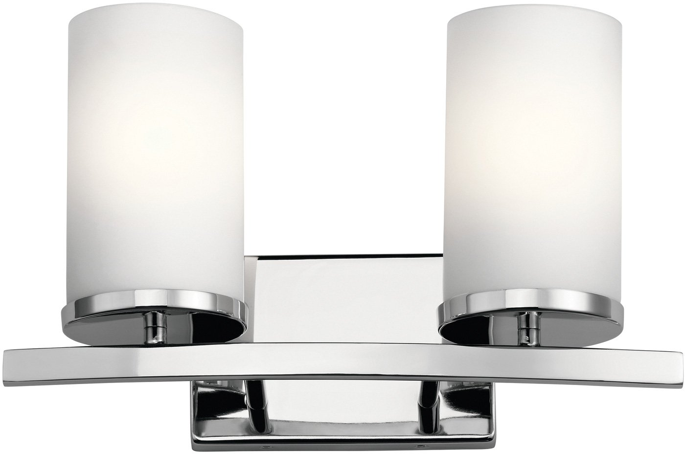 Kichler 45496CH Crosby 15 2-Light Bath Vanity in Chrome