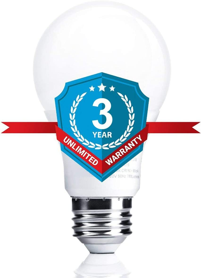 Non-Dimmable SANSUN 4000K Daylight Glow A19 LED Light Bulbs 60 Watt Equivalent Renewed 6-Pack