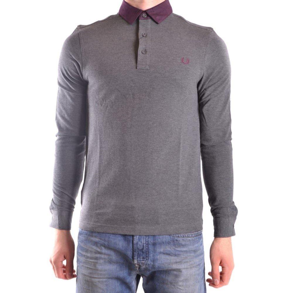(フレッドペリー) Fred Perry メンズ トップス ポロシャツ Grey Cotton Polo Shirt [並行輸入品] B07B7F2NWD   S