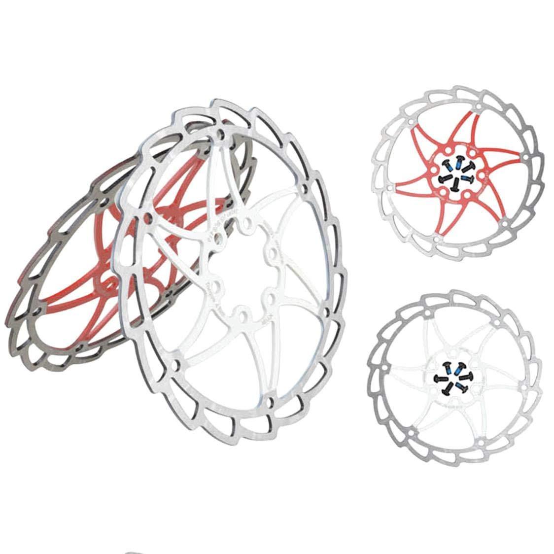 dryujdytru 2019 Neu 1 St/ück Mountainbike Fahrrad Zwei Farben Scheibe Scheibenbremsen Edelstahl Bremsen Bremsscheiben f/ür Camping Piknik und Weitere Outdoor-Aktivit/äten