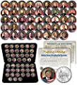 ALL 45 USA PRESIDENTS Complete Coin Set Colorized Washington DC Quarters with Preimum Box & Certificate SPECIAL PRICE