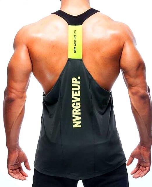 744058abce500 A. M. Sport Camisa Camiseta Hombre Tirantes Culturismo Fitness Deportiva.  Ropa Deporte Masculina para Entrenar Gym (EA Gris)  Amazon.es  Ropa y  accesorios