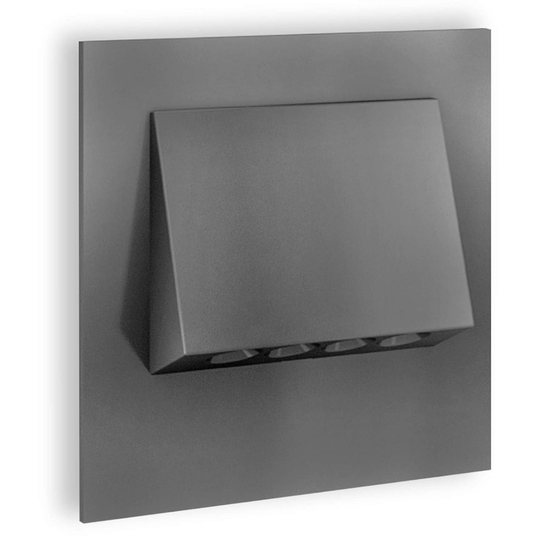 SSC-LUXon® LED Wandleuchte 230V Einbau NARVA Edelstahl gebürstet 1W – Downlight zur Treppen, Stufen & Akzentbeleuchtung