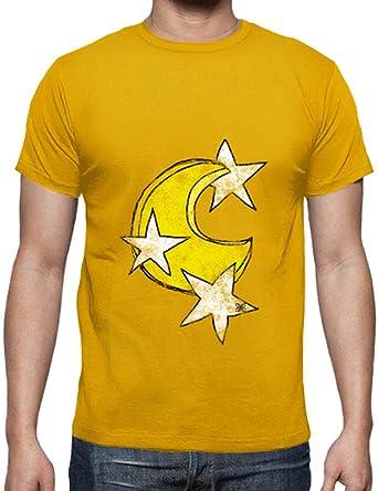 latostadora - Camiseta Luna y Estrellas para Hombre: Lola: Amazon.es: Ropa y accesorios