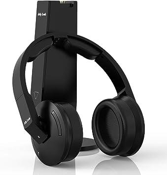 Jelly Comb Auriculares inalámbricos TV, Transmisión 2.4 GHz de Alta fidelidad con estación de Carga/Transmisor Admite Audio óptico, RCA, AUX 3.5 mm, para televisión, PC, Receptor AV: Amazon.es: Electrónica