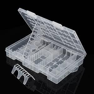 FOONEE Estuche Organizador de Almacenamiento de baterías, plástico ...