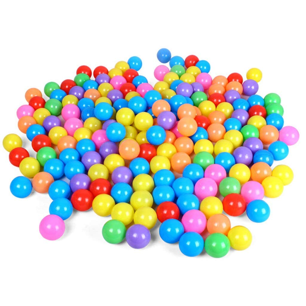 LINGLING-Ocean ball Children's Toy Ball Pool Accessories 5.5CM Marine Ball Game Ball Pool Fence 100 Ball Indoor Game Wave Ball Color Ball (Color : Coloful) by LINGLING-Ocean ball
