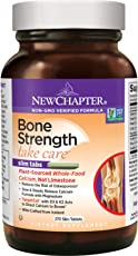 New Chapter Calcium Supplement with Vitamin K2 + D3 - Bone Strength Clinical Strength Plant Calcium with Vitamin D3 + Magnesium - 270 ct Slim Tabs