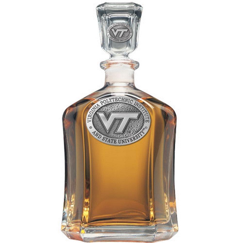 Virginia Tech Hokies Glass Capitol Decanter (Spirit Holder) 24 oz - NCAA College Athletics