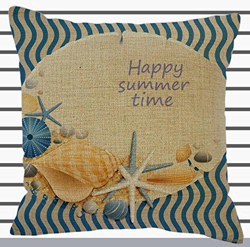 Feliz verano mar playa estrella de mar Conch Happy Holidays ...