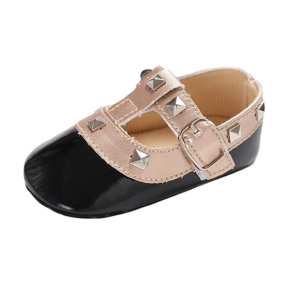 Baby Crib Rivet Soft Sole Shoes Toddler Sneakers Anti-slip Non-slip Princess Casual