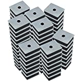 Master Magnetics CA41LWHX100 Ferrite Magnet/Low Carbon Steel Magnet Fastener, Rectangular with Center Hole Zinc Plated, 1'' Length, 0.813'' Width, 0.313'' Height, 12 lb. (Pack of 100)