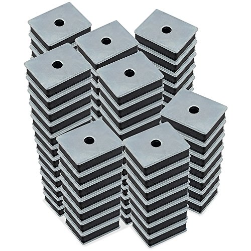 Master Magnetics CA41LWHX100 Ferrite Magnet/Low Carbon Steel Magnet Fastener, Rectangular with Center Hole Zinc Plated, 1