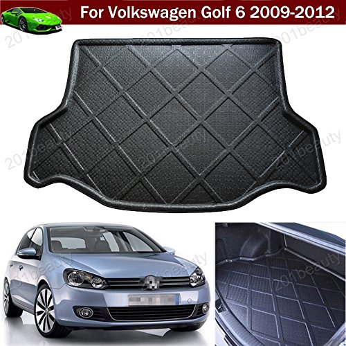 Kaitian Car Boot Pad Carpet Cargo Mat Trunk Liner Tray Cargo Liner Floor Mat for Volkswagen VW Golf MK6 2009 2010 2011 2012 ()