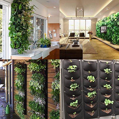 MEIWO Nuevo actualizado 7 Bolsillo Colgante jardín Vertical jardín ...