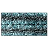 Zebrafur Blue Rectangle Tablecloth: Medium Dining Room Kitchen Woven Polyester Custom Print