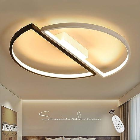Lámpara De Techo ,55CM 52W 3200 LM Led Regulable Con Control Remoto,Moderna Led Luz De Techo Iluminación De Techo Para Baño Dormitorio Cocina Sala De ...