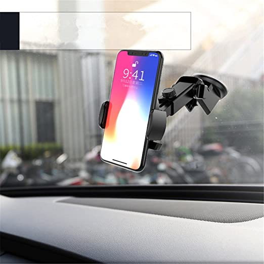 Amazon.com: Automatically Locking Windshield Phone Holder Universal Fit: Cell Phones & Accessories