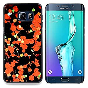 Stuss Case / Funda Carcasa protectora - Arte Abstracto Papel Naranja Negro - Samsung Galaxy S6 Edge Plus / S6 Edge+ G928