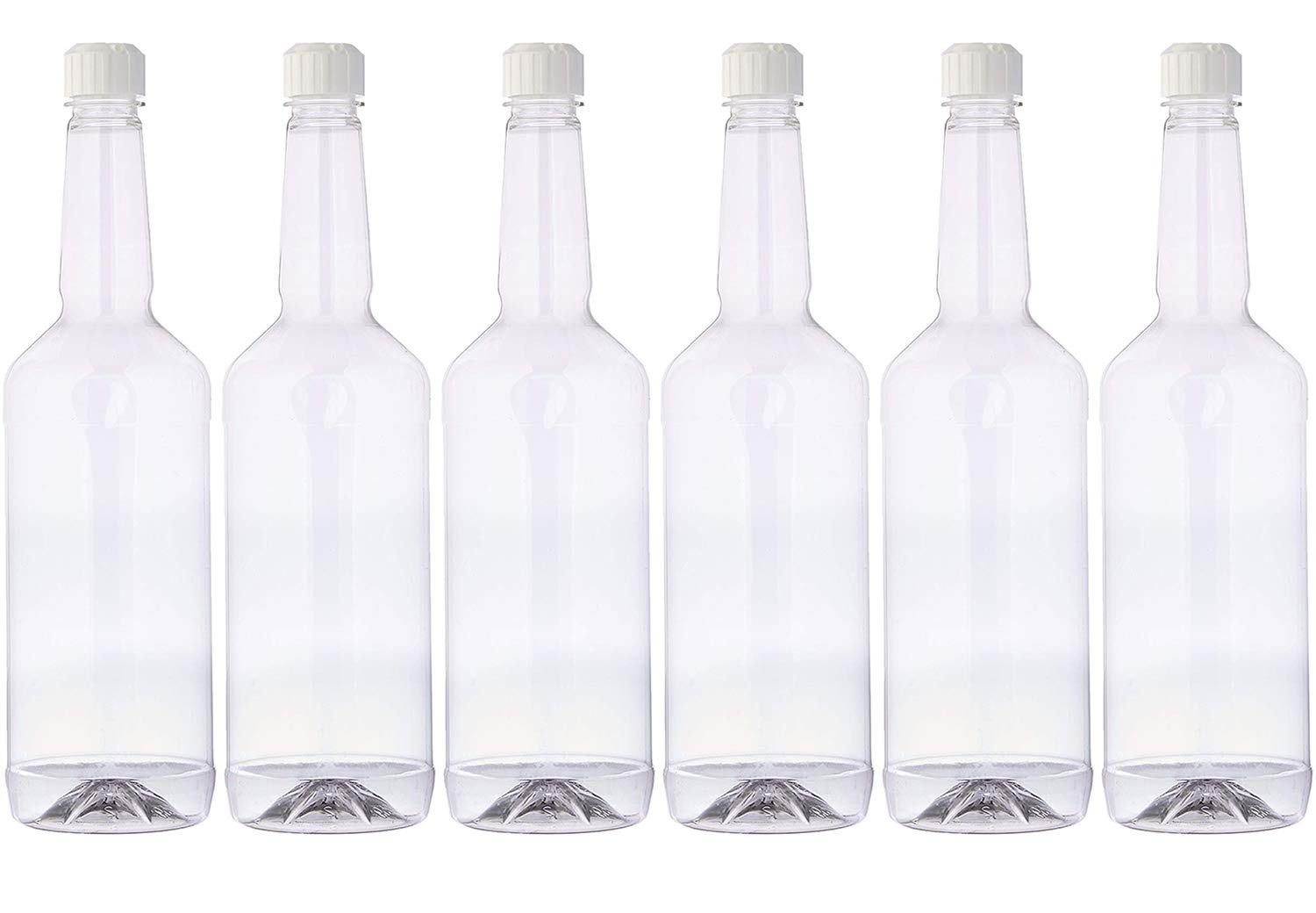 Concession Express Long Neck 32oz Quart Bottles with Flip-Top Caps by Concession Express