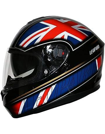 8dc19db0 Leopard LEO-828 Double Sun Visor Full Face Motorbike Motorcycle Scooter  Helmet Union Jack M