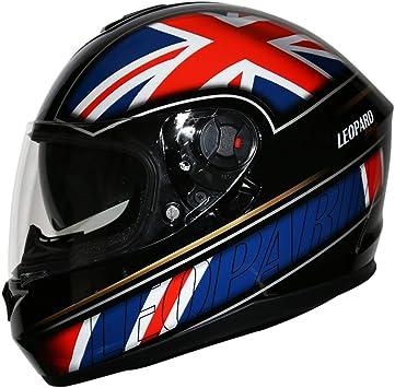 57-58cm Leopard LEO-828 Double Sun Visor Full Face Motorbike Motorcycle Scooter Helmet Scotland M