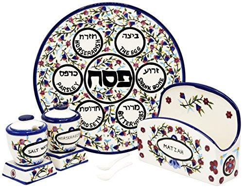 Passover Matzah Plate (Passover Ceramic 12