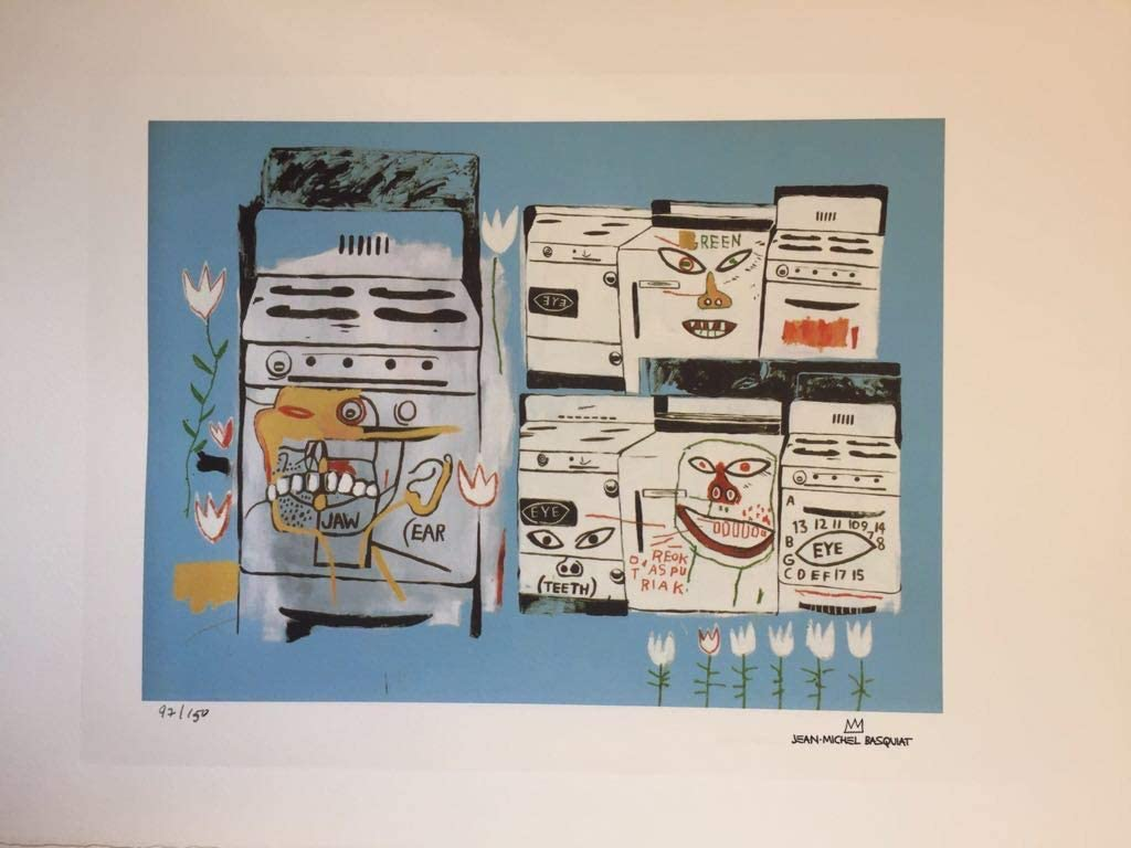Jean Michel Basquiat Lithographie Signée Et Numéroté