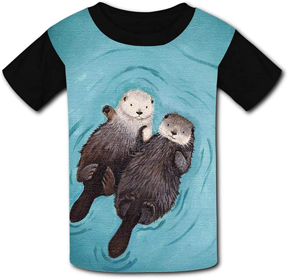 The Sea Leopard Summer T-Shirt Childrens Fashion Simple and Comfortable