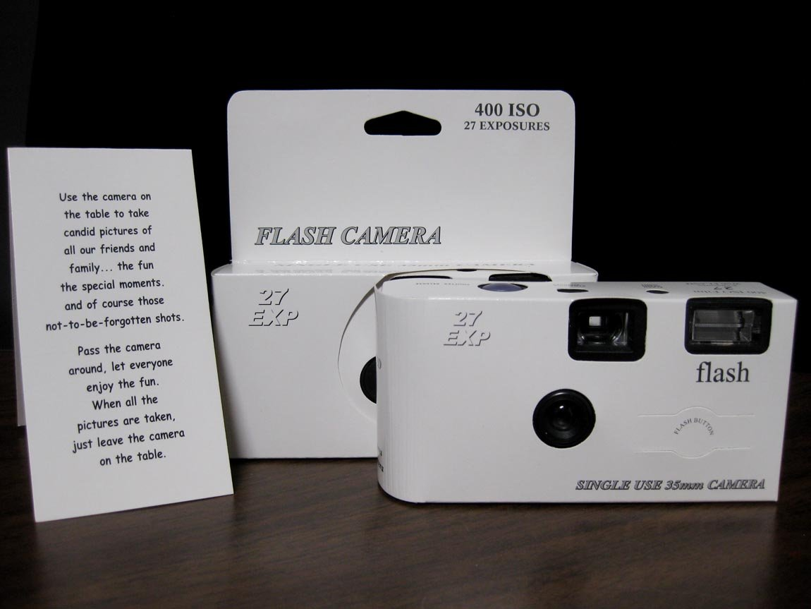 Amazon 10 Pack Classic White Wedding Party Disposable Cameras
