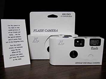 10 Pack Classic White Wedding Party Disposable Cameras With Gift Box And Matching Tents 27