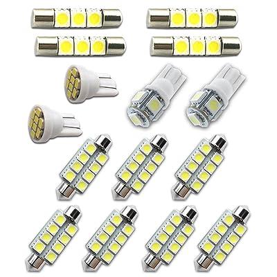 For Chevy Tahoe and Suburban Led Interior Lights Led Interior Car Lights Bulbs Kit 2007-2014 White 15Pcs: Automotive
