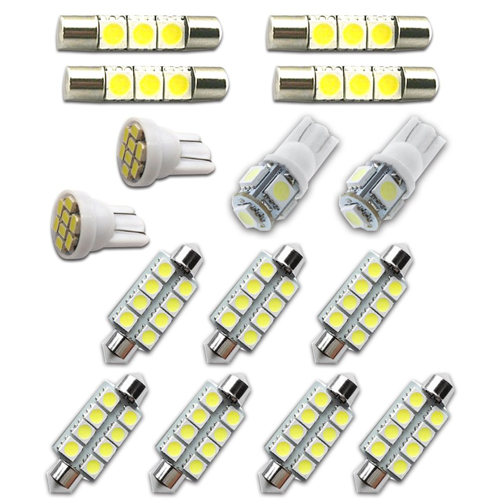 For Chevy Tahoe and Suburban Led Interior Lights Led Interior Car Lights Bulbs Kit 2007-2014 White 15Pcs 8X-SPEED