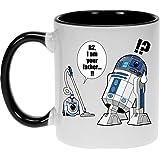Mug Geek - Parodie Star Wars - R2... Je suis ton père ! (en VO remasterisée !) - Mug Noir - Haute Qualité (382)